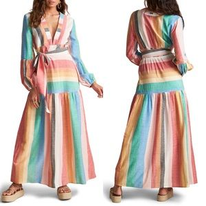 Sincerely Jules Mix it Up Stripe Long Sleeve Maxi
